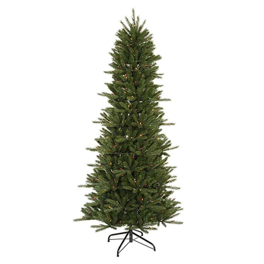 Northlight 4.5-ft Pre-lit Slim Artificial Christmas Tree ...