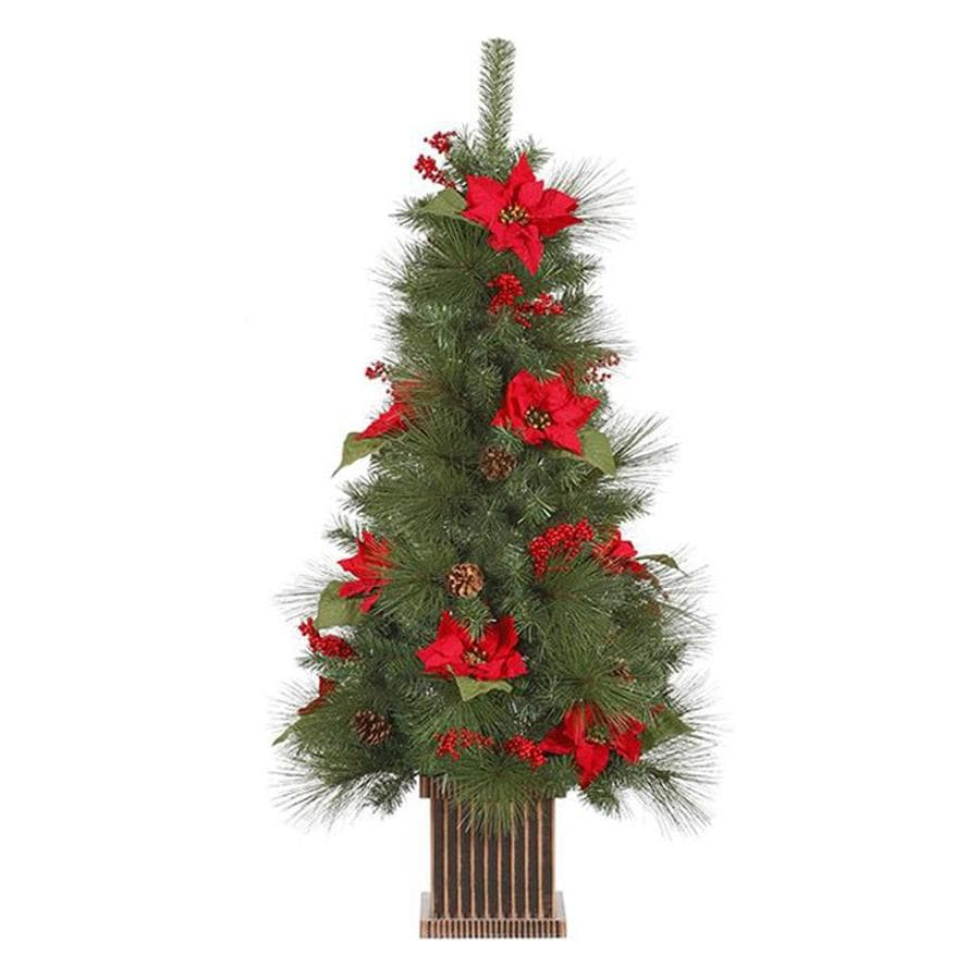 Real Christmas Trees Lowes: Northlight 4-ft Pinehurst Spruce Slim Artificial Christmas