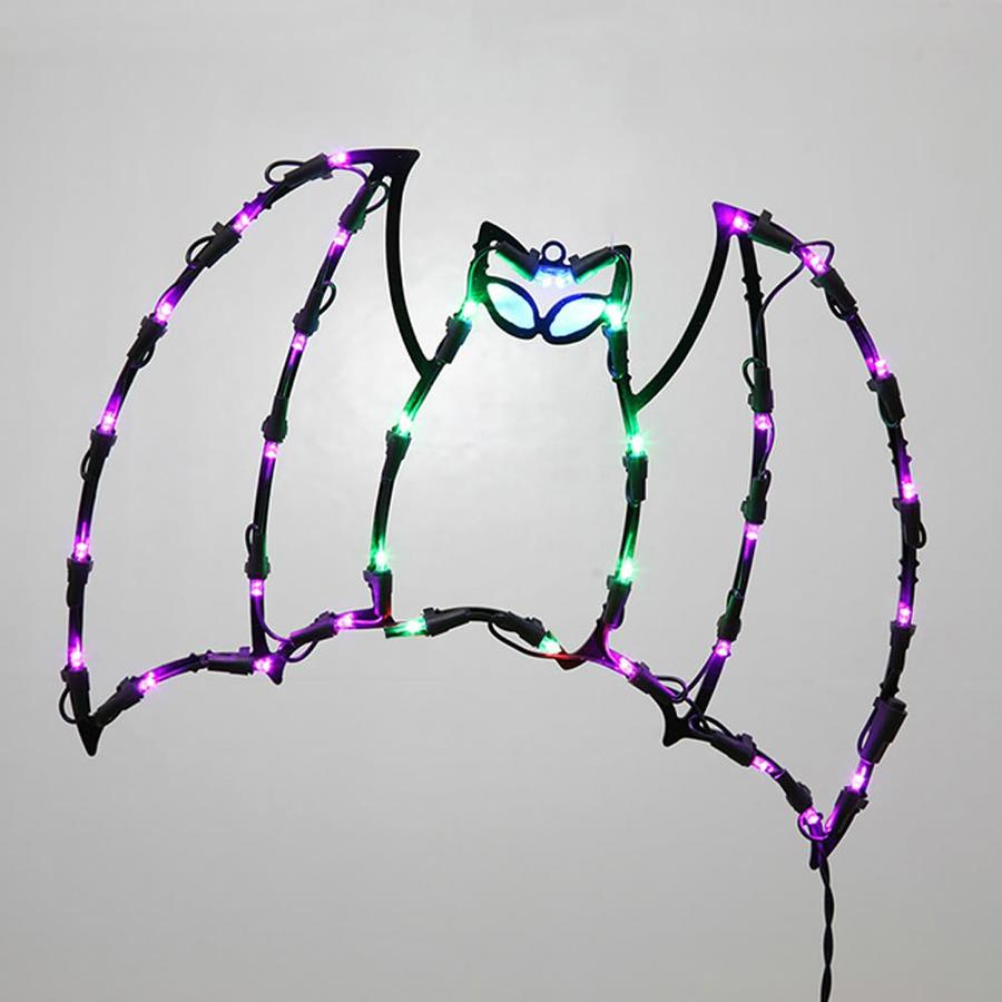 Northlight Pre Lit Bat Window Cling With Multicolor Led Lights