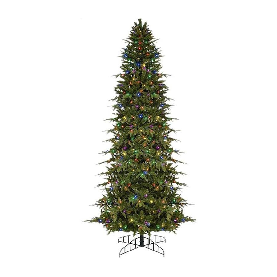 Northlight 9-ft Pre-lit Pencil Pine Slim Artificial Christmas Tree with 500 Multicolor LED Lights