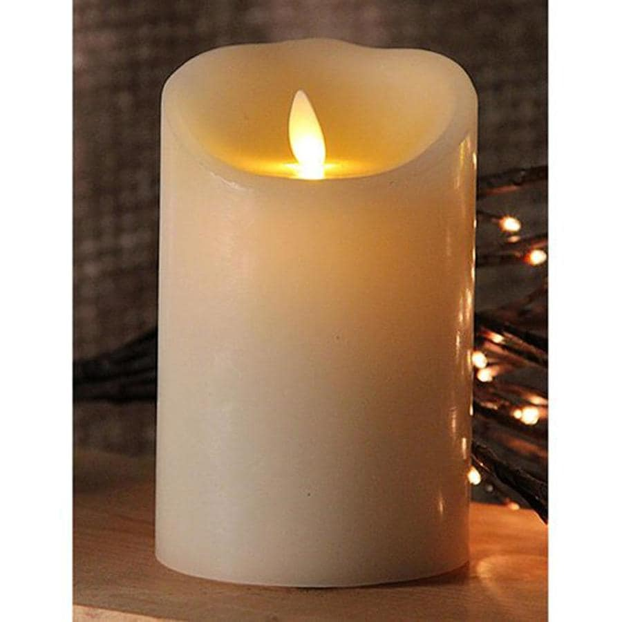 White Electric Pillar Candle