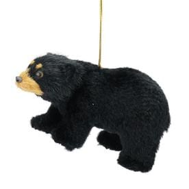 Northlight 4-in Rustic Lodge Furry Standing Black Bear Christmas Ornament