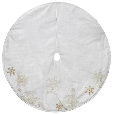 huge selection of 49626 dc277 Northlight 4-ft White and Gold Tree Skirt at Lowes.com
