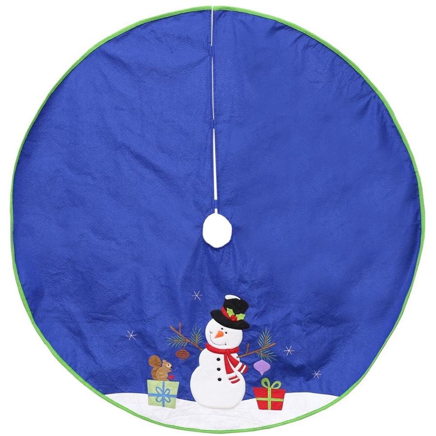 Lowes Christmas Tree Skirts: Northlight 4-ft Blue Christmas Tree Skirt At Lowes.com
