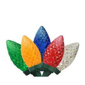 c664903f6c309 Northlight 100 Commercial Length Multi-Color LED Faceted C9 Christmas Lights  On Spool 5-