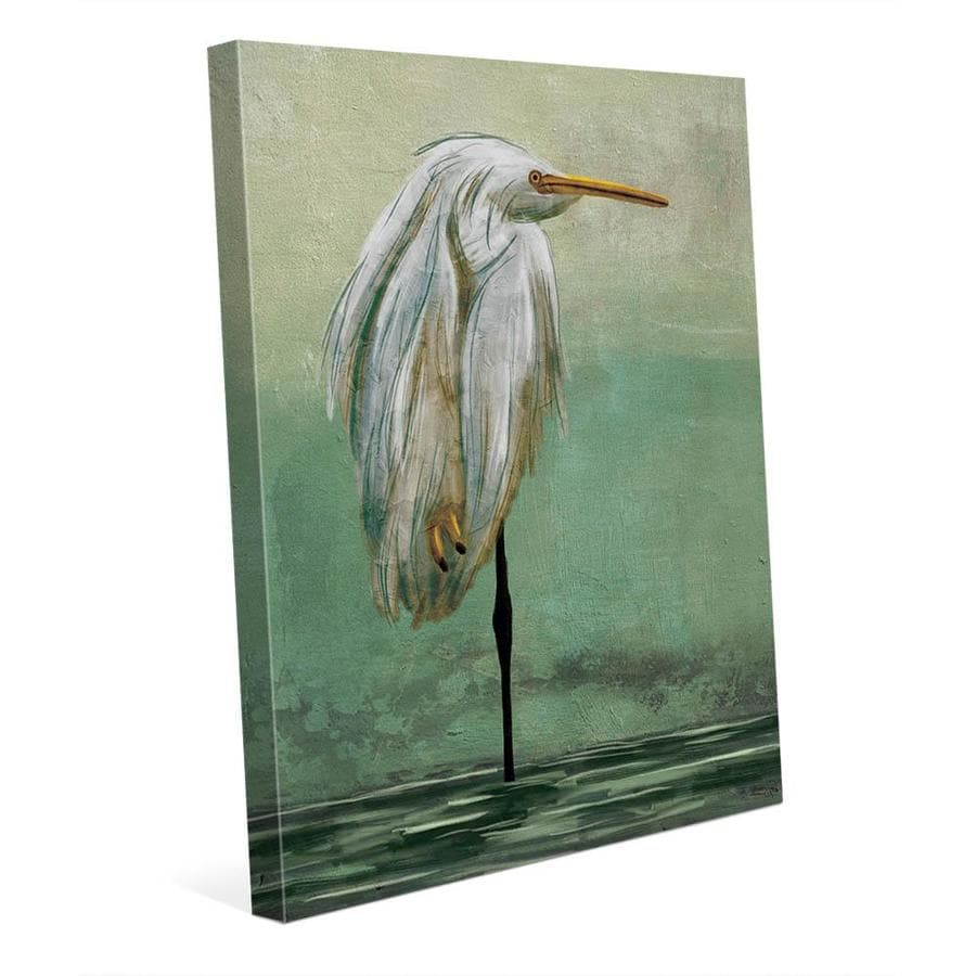 creative gallery lonely crane 11 in x 14 in wall art on canvas