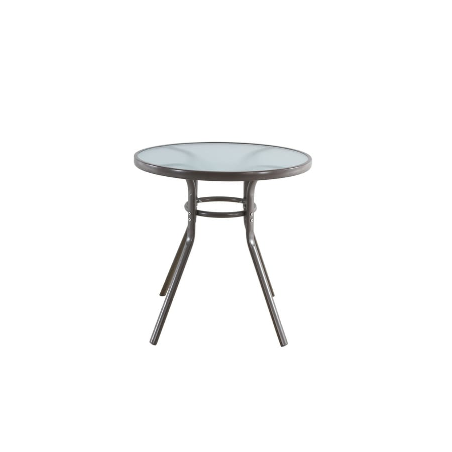 Garden Treasures Driscol 27.95-in W x 27.95-in L Round Metal Bistro Table