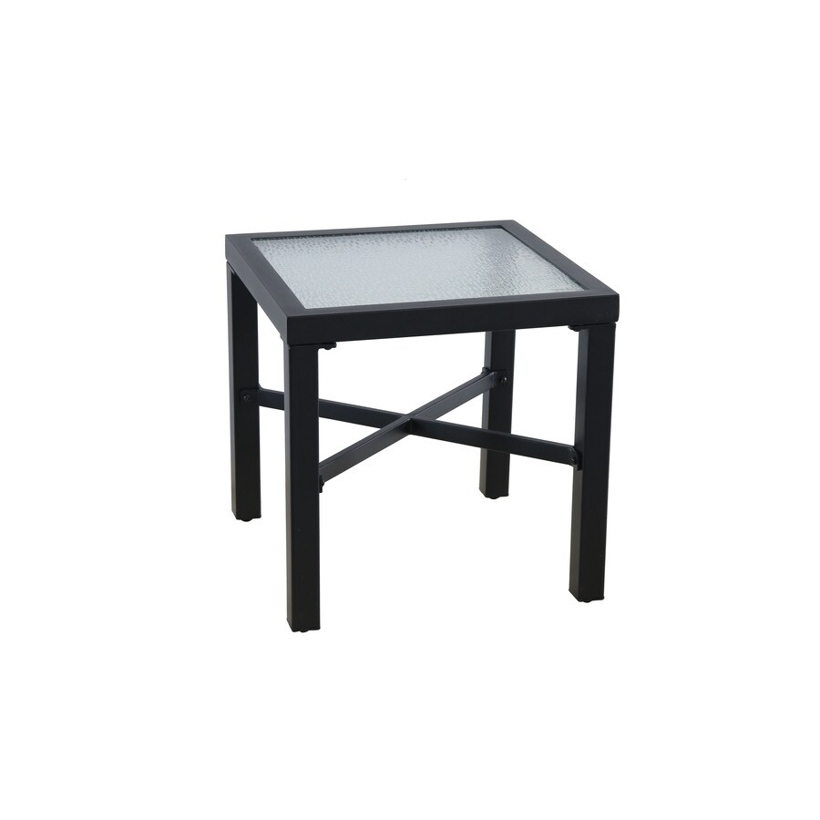 Garden Treasures Palm City 18.11-in W x 18.11-in L Square Metal End Table