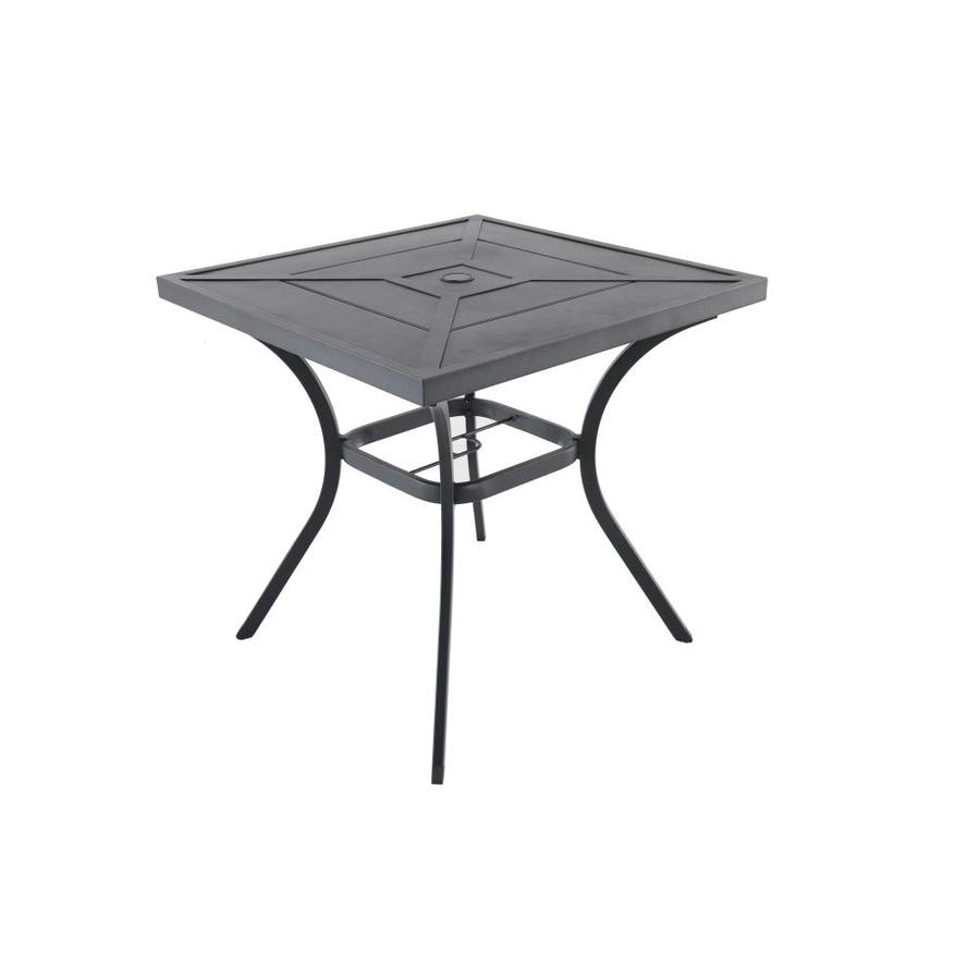 allen + roth Kingsmead 29.92-in W x 29.92-in L Square Metal Bistro Table