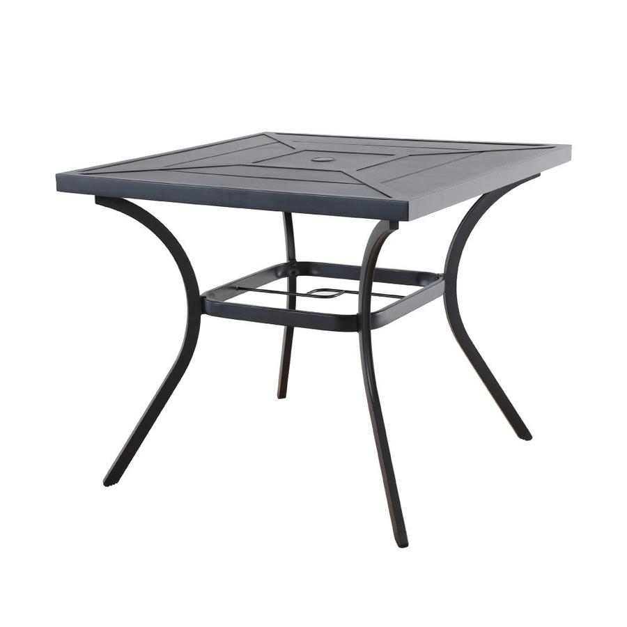 allen + roth Kingsmead 34.05-in W x 34.05-in L Square Metal Dining Table