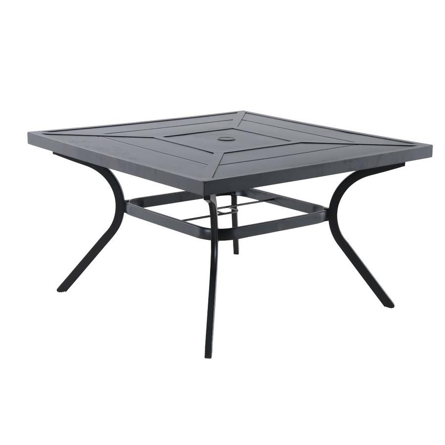 allen + roth Kingsmead 36.02-in W x 36.02-in L Square Metal Dining Table