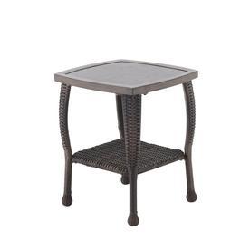 Allen Roth Mcaden Square Wicker End Table 17 9 In W X