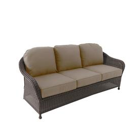 Fantastic Allen Roth Glenlee Wicker Outdoor Sofa With Cushion And Pdpeps Interior Chair Design Pdpepsorg