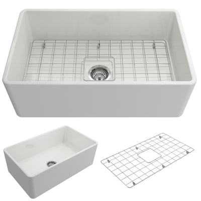 Clico 30 In X 18 White Single Bowl Tall 8 Or Larger Undermount A Front Farmhouse Commercial Residential Kitchen Sink