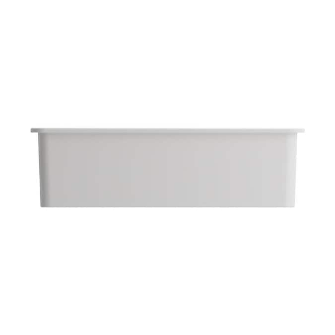 Bocchi Sotto Dual Mount 32 In X 19 In White Single Bowl Kitchen Sink In The Kitchen Sinks Department At Lowes Com