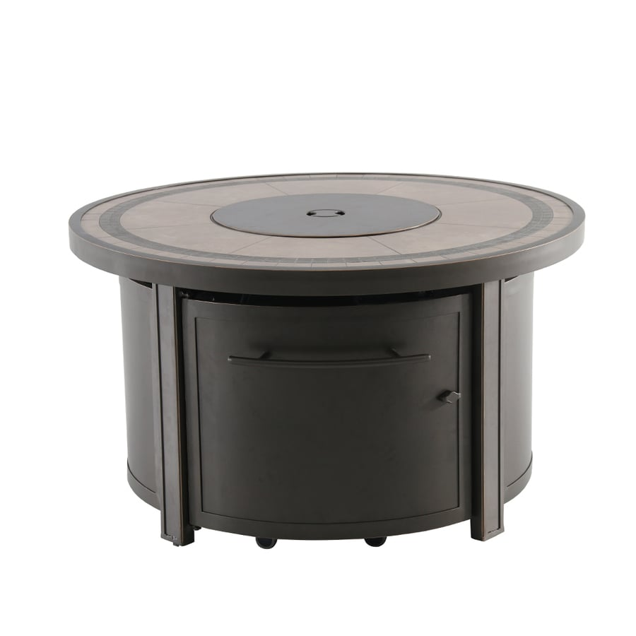 Ordinaire Creative Outdoor Solutions 44 In W 55000 BTU Brown Tabletop Aluminum  Propane Gas Fire