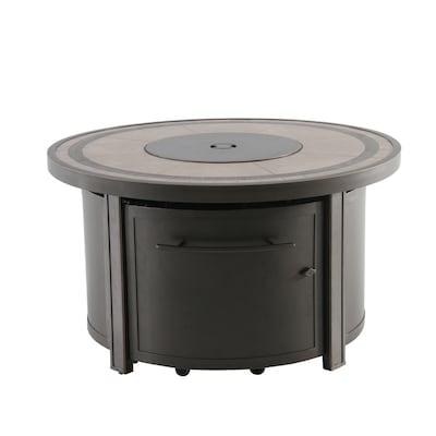 Creative Outdoor Solutions 44 In W 55000 Btu Brown Tabletop Aluminum Propane Gas Fire Table The Pits Department At Lowes