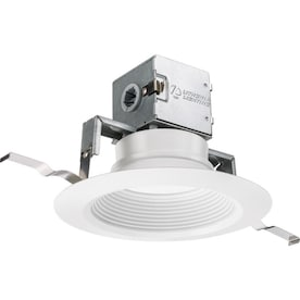 Lithonia Lighting OneUp Integrated LED 65-Watt Equivalent Matte White Round Dimmable Canless Recessed Downlight