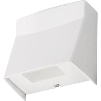 800 Lumen 8 4 Watt White Integrated Led Wall Pack Light