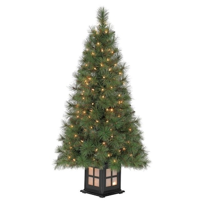 competitive price 24612 6e606 4-ft Pre-lit Scott Pine Slim Artificial Christmas Tree with 150 Constant  White Clear Incandescent Lights