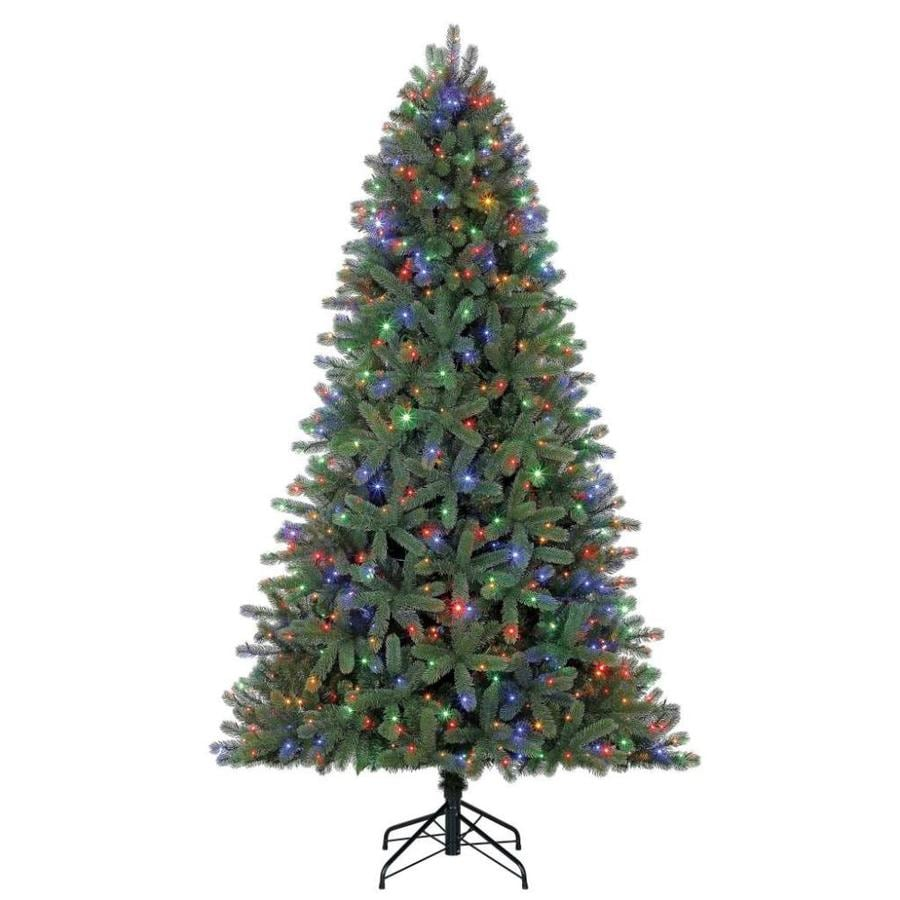Pre Lit Led Lights Christmas Tree: Holiday Living 7.5-ft Pre-lit Colorado Spruce Artificial