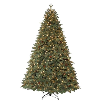 Lowe's Holiday Living 7.5-ft Pre-Lit Hayden Pine Artificial Christmas Tree