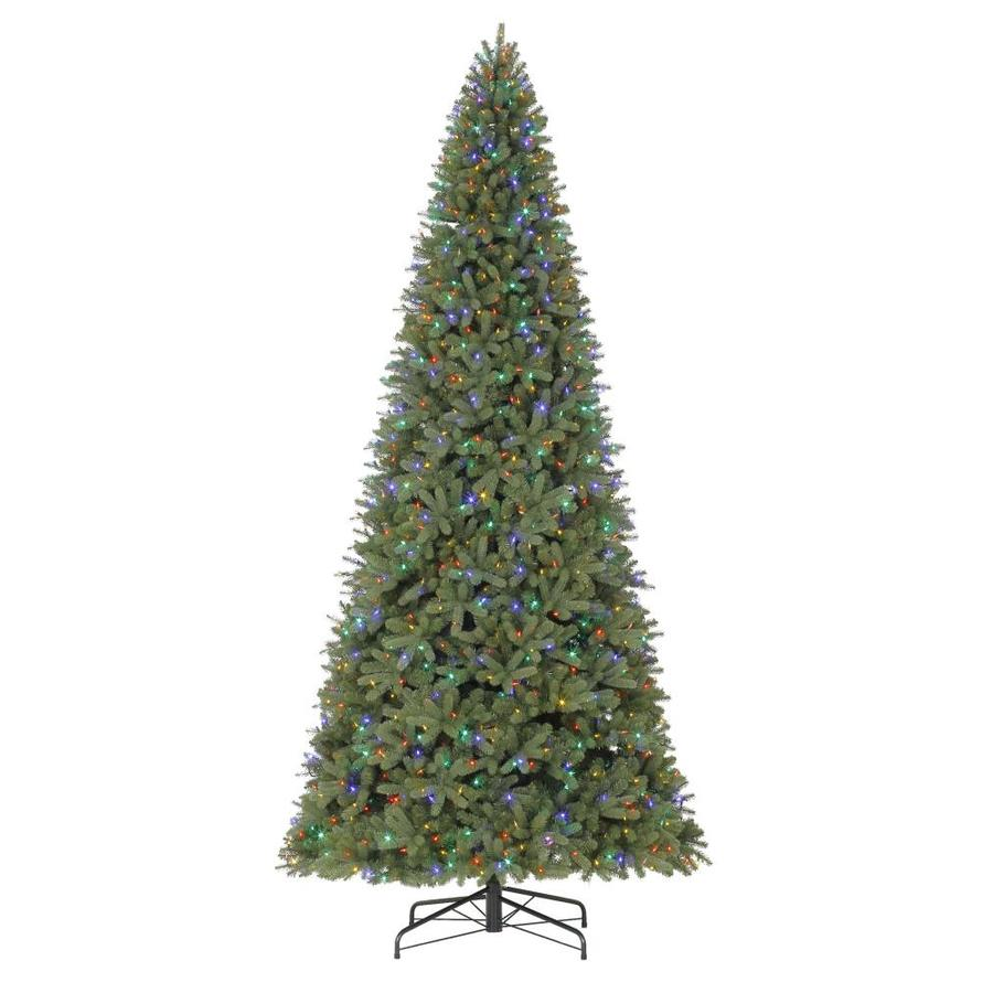 Holiday Living 12 Ft Pre Lit Douglas Fir Artificial Christmas Tree With 1200 Multi Function Color Changing Led Lights