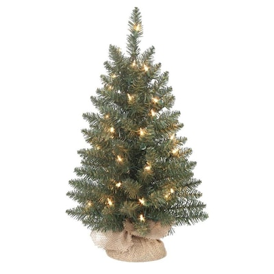 huge selection of acfde 8cb70 HL 24-in Pre-Lit Grand Mason Green Artificial Tabletop Christmas Tree