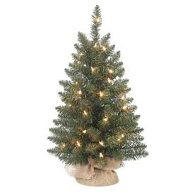 Holiday Living HL 24 In Pre Lit Grand Mason Green Artificial Tabletop  Christmas Tree