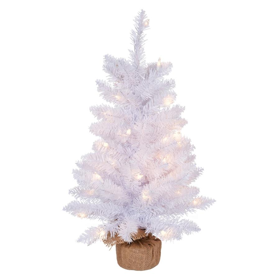 Grand Christmas Tree: Holiday Living HL 24-in Pre-Lit Grand Mason White