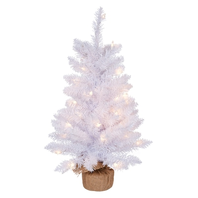 Hl 24 In Pre Lit Grand Mason White Artificial Tabletop Christmas Tree