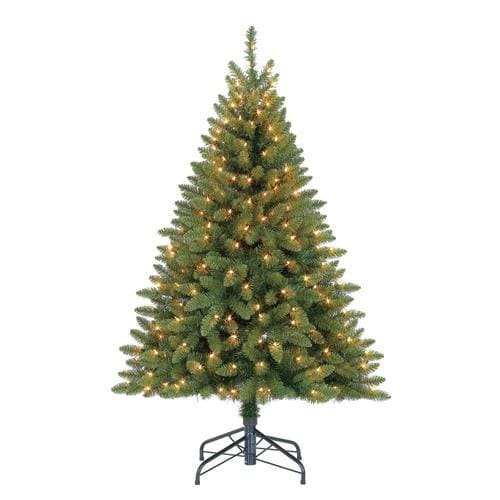 White 4 Foot Christmas Tree: Holiday Living 4.5-ft Pre-Lit Bristen Pine Slim Artificial