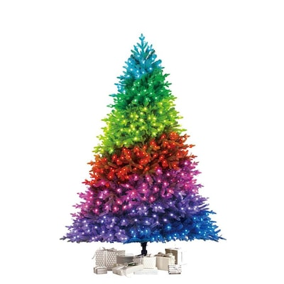 TWINKLY 7.5-ft Pre-Lit Artificial Christmas Tree
