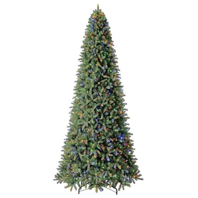 Holiday Living 12-ft Pre-Lit Douglas Fir Artificial ...