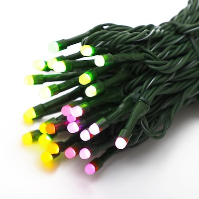 Rgb Led Christmas Lights.Twinkly App Controlled 56ct 5mm Rgb Led Lights At Lowes Com