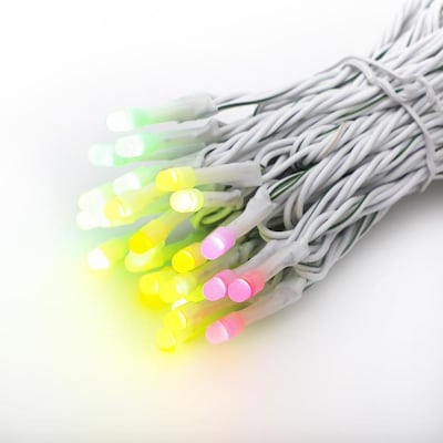 Rgb Led Christmas Lights.Twinkly App Controlled 50ct Icicle String Rgb Led Lights At