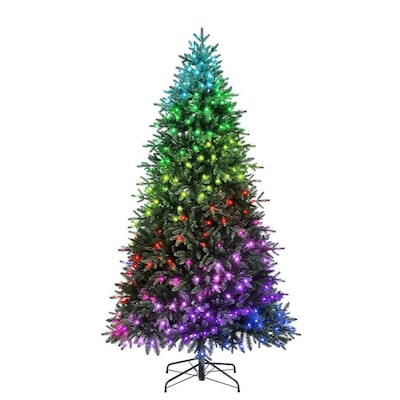Holiday Living 7.5-ft Pre-Lit Artificial Christmas Tree with 435 Color Changing Color Changing LED Lights