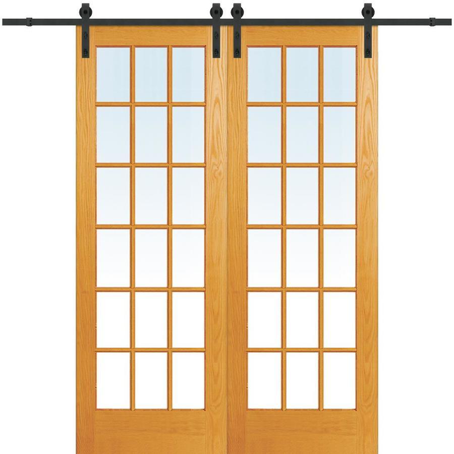 Mmi Door Unfinished Pine Veneer Barn Hardware Included Common 60 In X 96 Actual