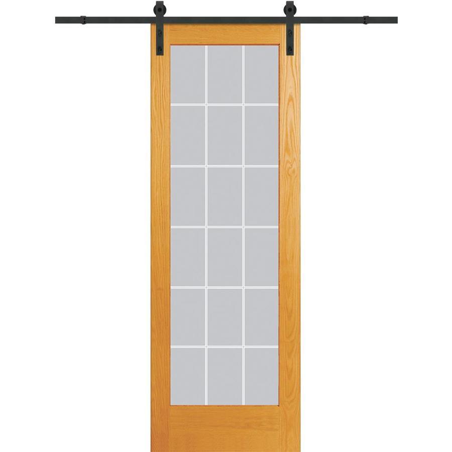 MMI DOOR 36 Inx96 In Unfinished Pine 18 Lite V Groove Barn Door