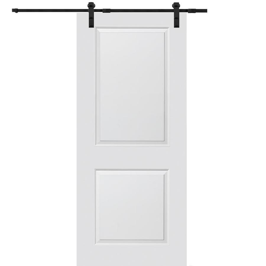 Mmi Door Primed 2 Panel Square Molded Composite Barn Door