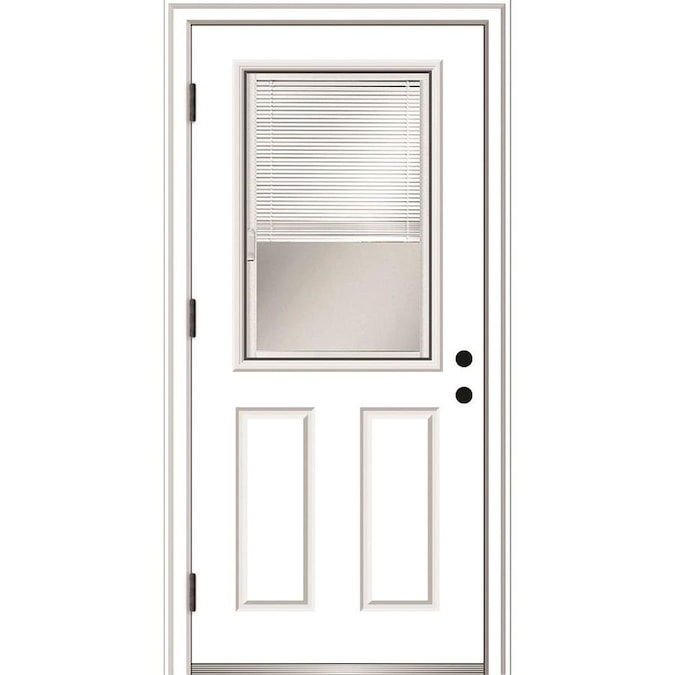 Mmi Door 30 In X 80 In Fiberglass Half Lite Right Hand Outswing Primed Prehung Single Front Door Brickmould Included With Blinds In The Front Doors Department At Lowes Com See the best & latest exterior outswing door landing code on iscoupon.com. mmi door 30 in x 80 in fiberglass half