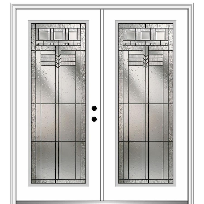 Mmi Door 64 In X 80 In Fiberglass Full Lite Left Hand Inswing Primed Painted Prehung Double Front Door Brickmould Included In The Front Doors Department At Lowes Com See more ideas about exterior doors, doors, black exterior doors. mmi door 64 in x 80 in fiberglass full