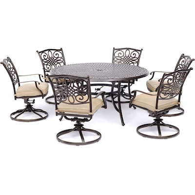 round patio dining sets at lowes com
