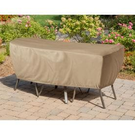 Fabulous Hanover Vinyl Patio Furniture Covers At Lowes Com Home Remodeling Inspirations Genioncuboardxyz