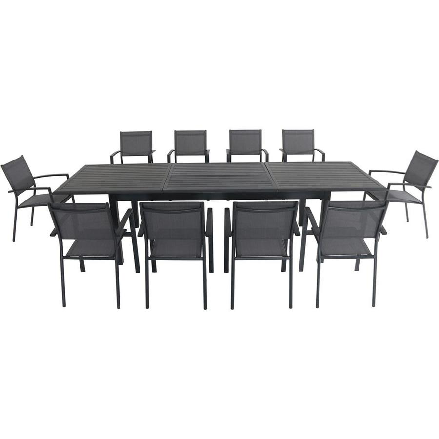Hanover Dawson 11 Piece Dining Set With 10 Sling Chairs And An