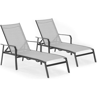 Pleasant Hanover Foxhill Set Of 2 Metal Stationary Chaise Lounge Spiritservingveterans Wood Chair Design Ideas Spiritservingveteransorg