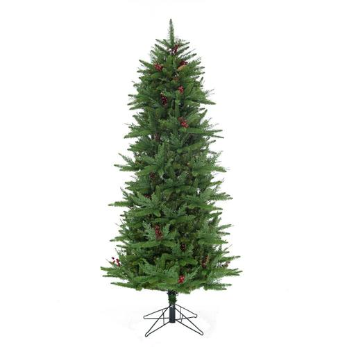 Fraser Hill Farm 7.5-ft Slim Artificial Christmas Tree at ...