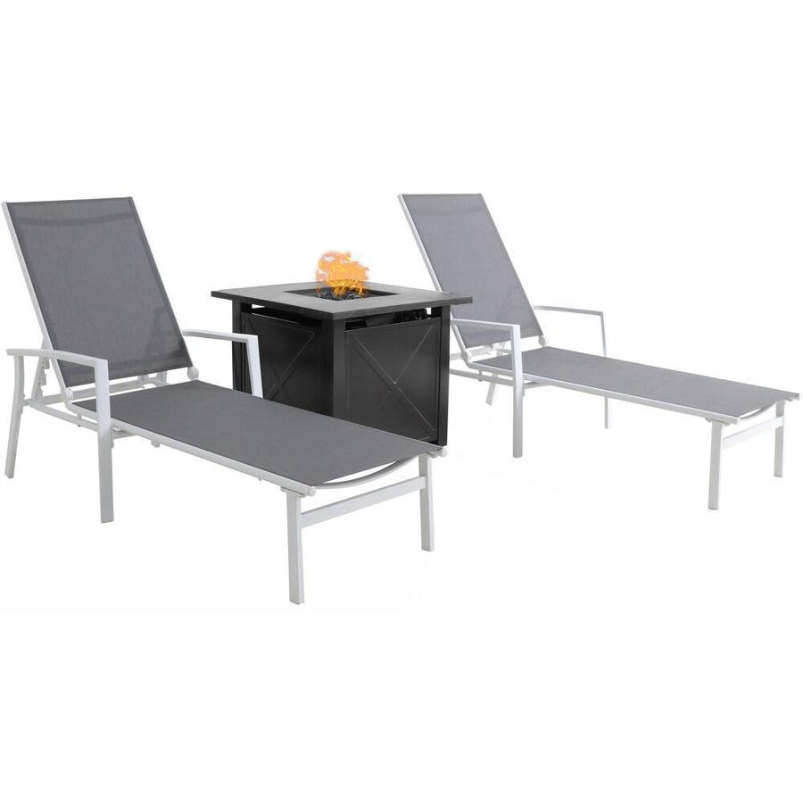 Mod Furniture Harper 3 Piece Metal Frame Patio Conversation Set With Mod In The Patio Conversation Sets Department At Lowes Com