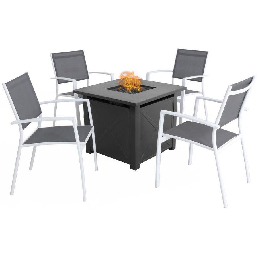 Mod Furniture Harper 5 Piece Metal Frame Patio Conversation Set With Mod Cushions In The Patio Conversation Sets Department At Lowes Com