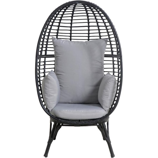 Mod Furniture Poppy Gray Metal Frame Stationary Conversation Chair S With Gray Mod Cushioned Seat In The Patio Chairs Department At Lowes Com